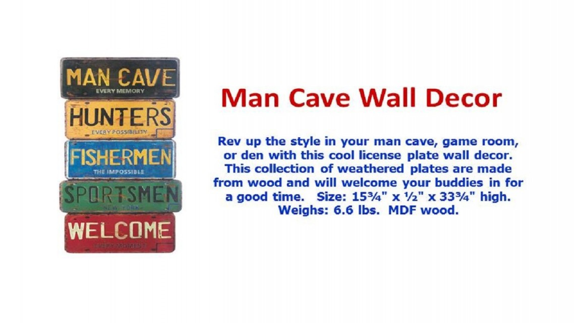 Man Cave Wall Décor