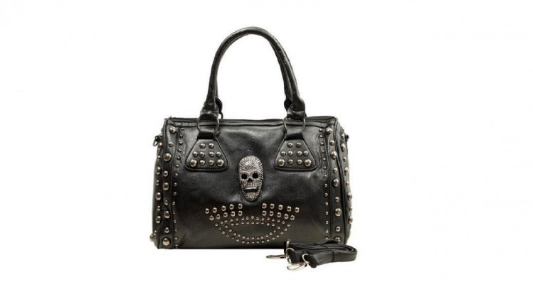 Gothic Studded Skull Purse