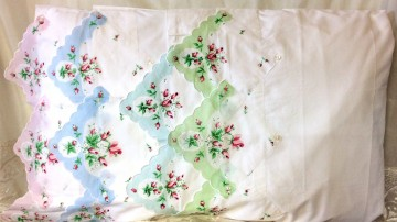 Set of 2 Hankie Pillow Cases