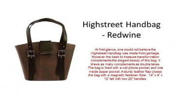Highstreet Handbag - Redwine